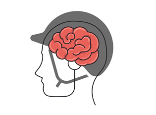 brain and helmet